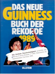 1964 - Speed record Erich Brenter Guiness Buch 1989
